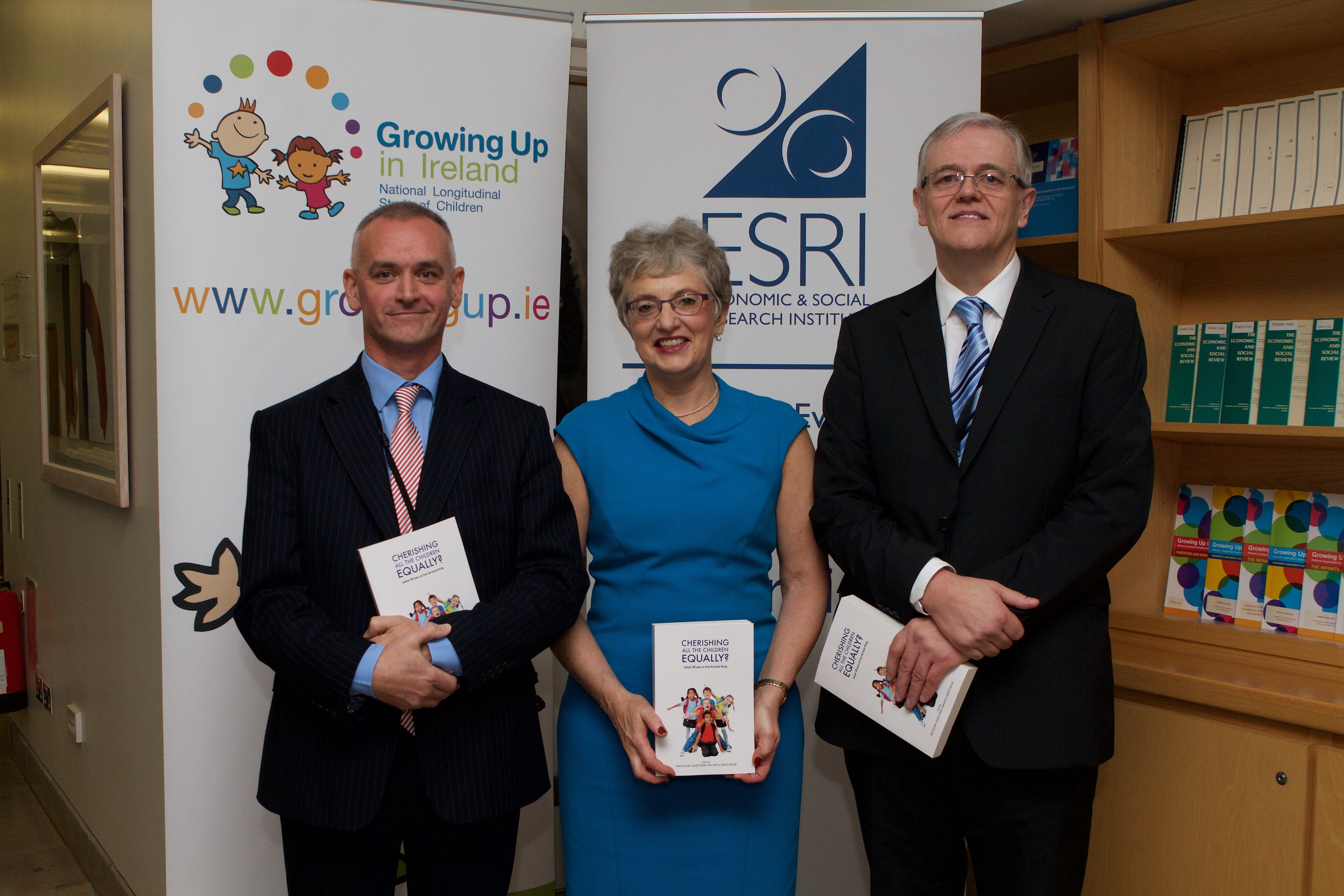 Alan Barrett, Director ESRI / Dr Katherine Zappone TD, Minister for Children and Youth Affairs / James Williams, co-editor