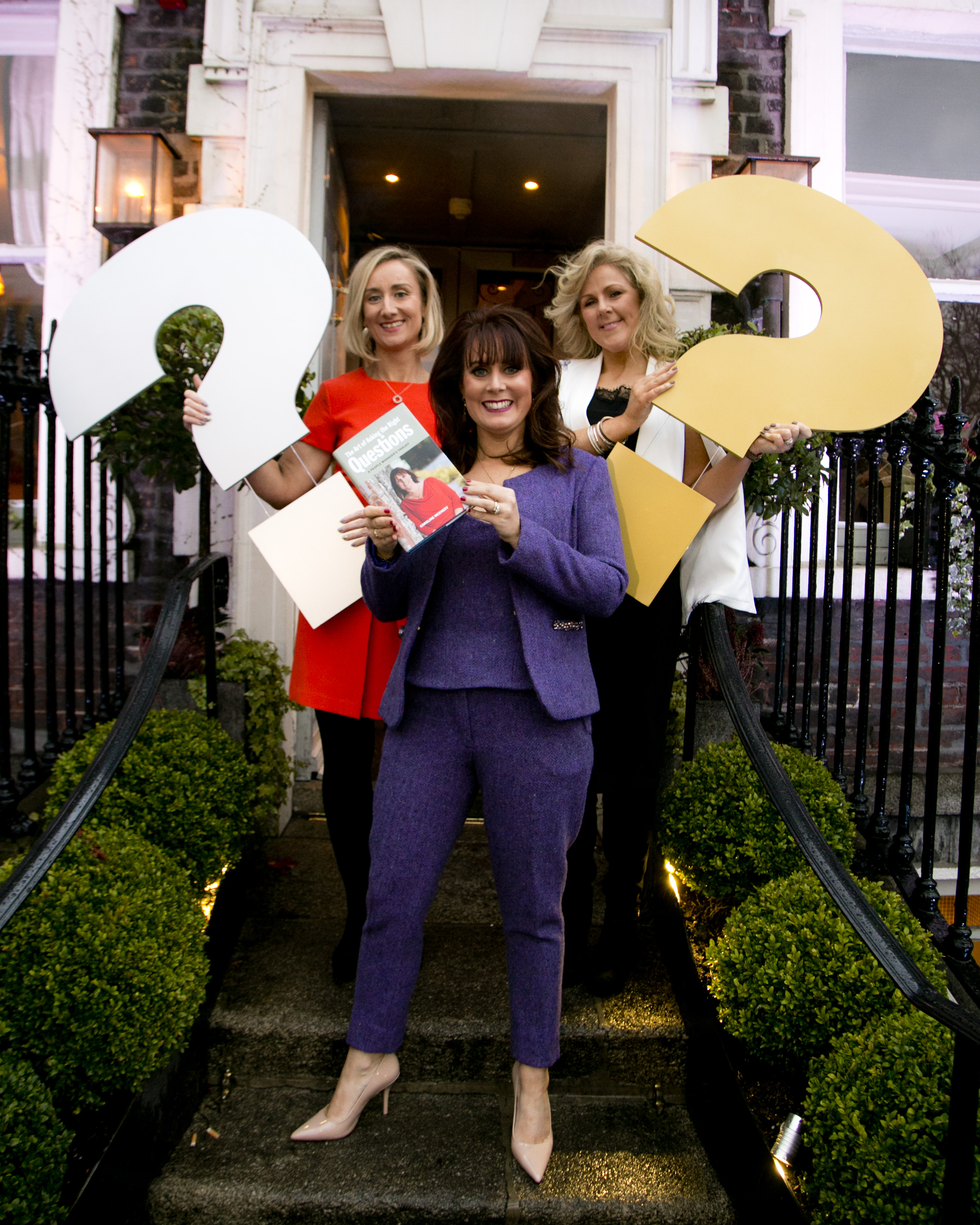Caroline McEnery with The HR Suite team, Jo O'Dwyer and Mary Stapleton at the Dublin launch of THE ART OF ASKING THE RIGHT QUESTIONS