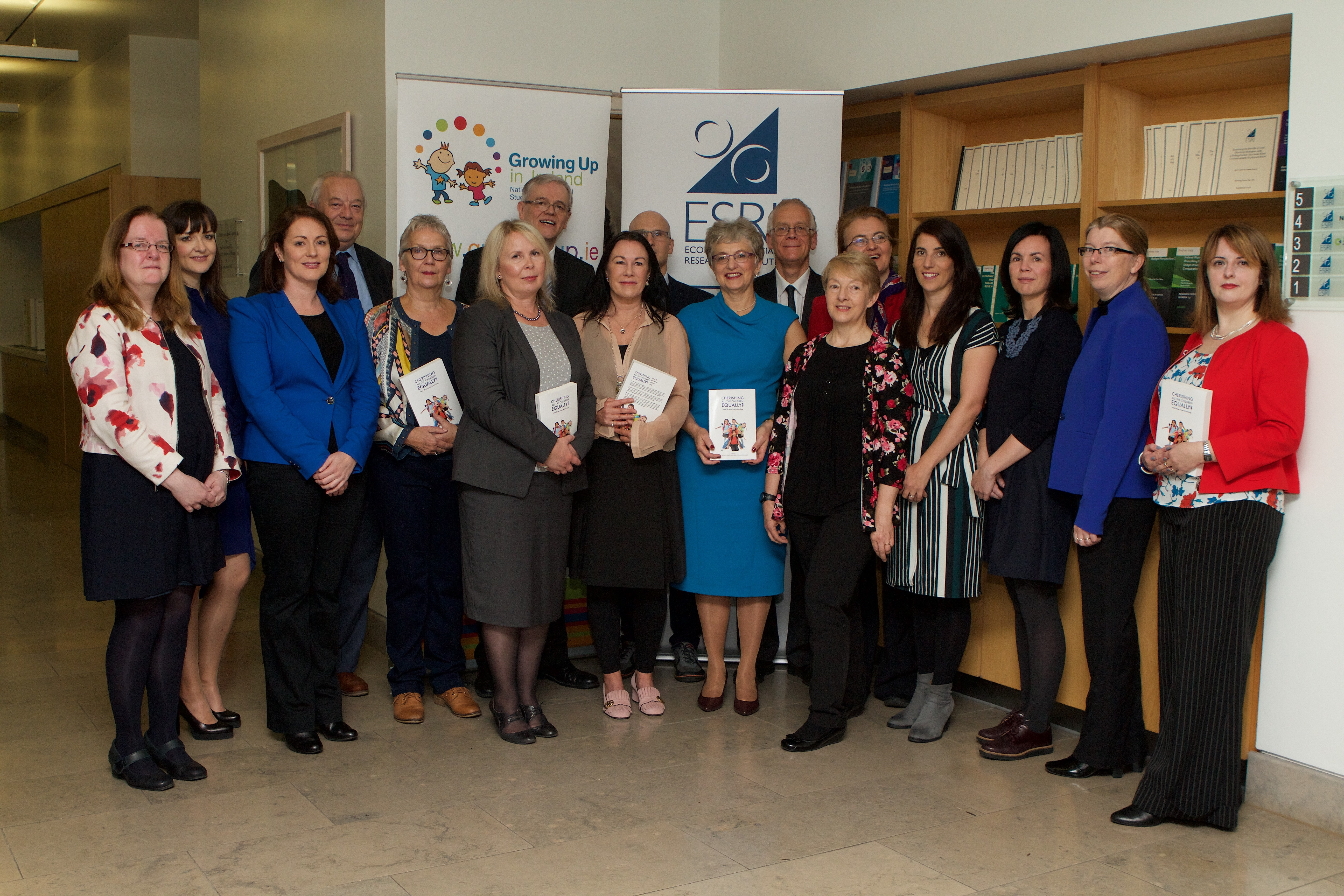 Minister for Children and Youth Affairs, Dr Katherine Zapping TD with the co-editors and some contributors to CHERISHING ALL THE CHIDREN EQUALLY?
